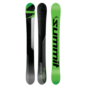"""this is the original """"One Skiboard Does It All Design"""". Equally at home on hard pack/ice, moguls, glades, cruising the groomed runs, terrain parks or, yes, floating through powder with ease."""