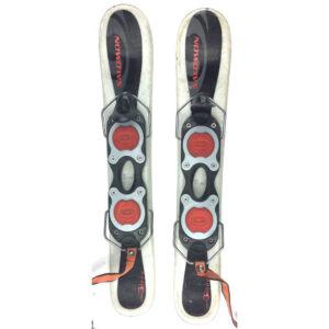 Salomon Grom Kid's USED 61cm Snowblades Skiboards w. Non-release Ski boot bindings black/white