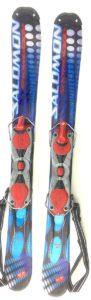 Salomon Snowblades USED with Non-release ski boot bindings Blue