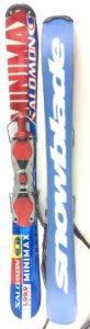 Salomon Minimax Snowblades 99.9 cm Skiboards w. Non-release ski boot bindings blue/red