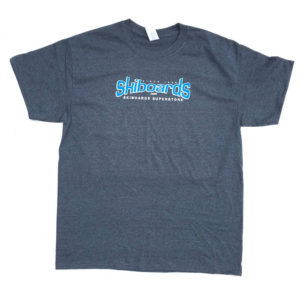 Skiboards.com Logo Tee Shirt Short Sleeve Charcoal