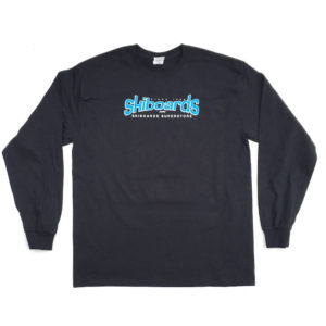 Skiboards.com Logo Tee Shirt Long Sleeve Black