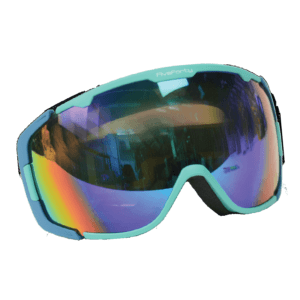 540 Glowstick Smoke Mirror Teal Blue Goggles