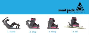 Mad Jacks Snowboard Boot Adaptor for skis