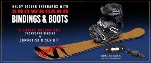 Summit Skiboards With Technine Snowboard Bindings