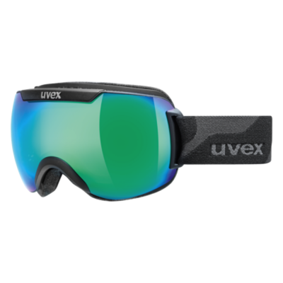 Uvex Downhill 2000 Black Mat/Mirror Green Goggles