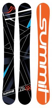 Summit ZR 88 Skiboards Mounted with Salomon L10 Ski Bindings