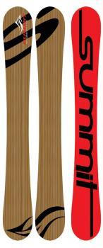 Summit 110 cm Bamboo Skiboards Salomon Z12 Bindings