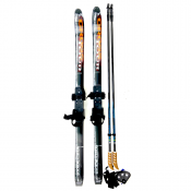 XC Skis- whitewoods-117cm-bindings-poles