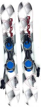 Snowjam 75cm Phenom Skiboards w. Non-release ski boot bindings 2018