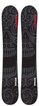 Snowjam 75cm Titan Skiboards w Snowboard Bindings and Riser Kit 2018