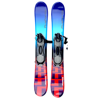 Snowjam 90cm Panzer Skiboards w. Non-release ski boot bindings 2019