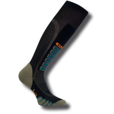 Eurosock Silver Supreme Ski Socks Black