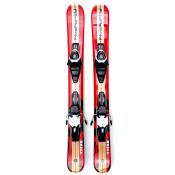 Snowjam skiboards Titan 99cm with ski bindings red/tan